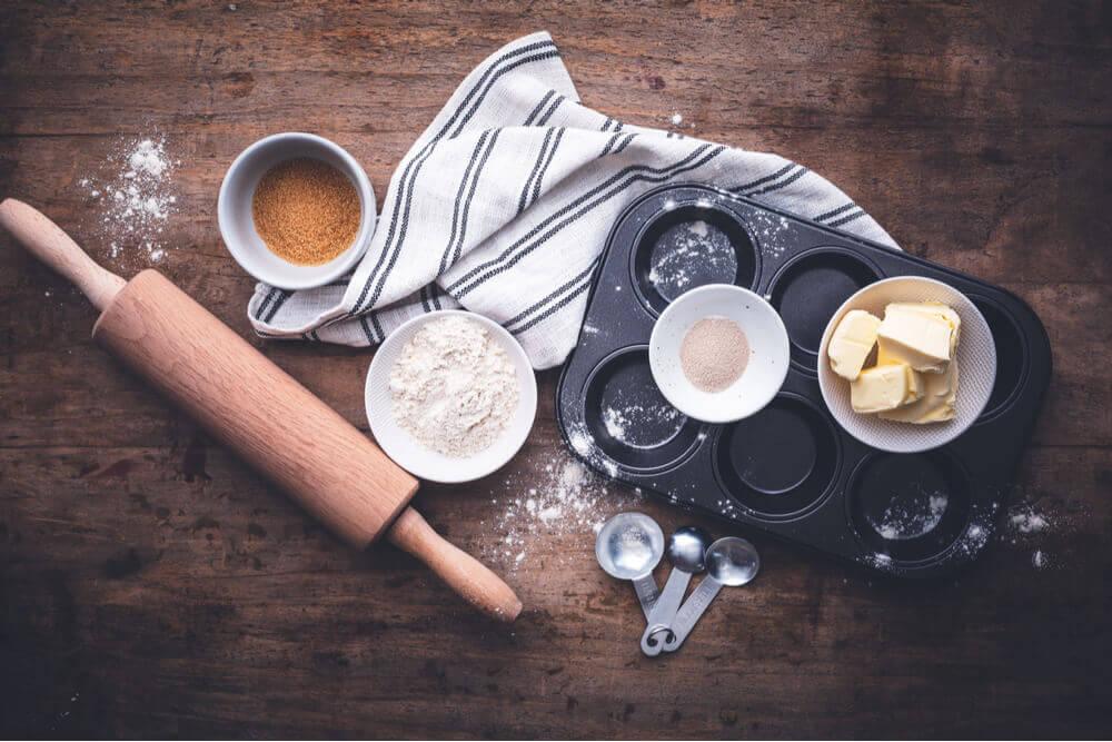 Utensílios de cozinha para fazer doces