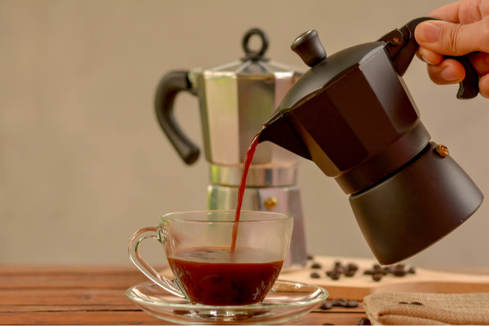 métodos de preparo do café: cafeteira italiana moka
